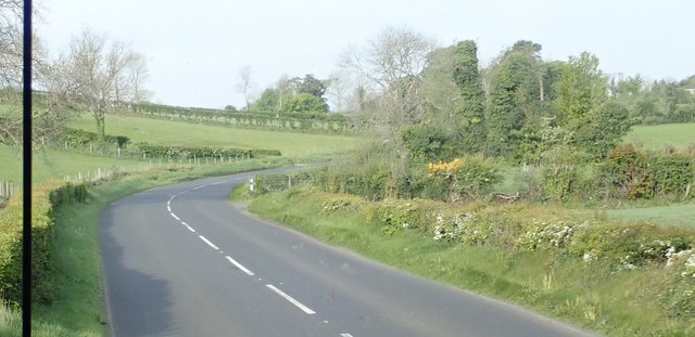 Sharp right hand bend in the B8 in Kinghill TD
