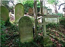 TG2408 : Graves on the lower terraces by Evelyn Simak