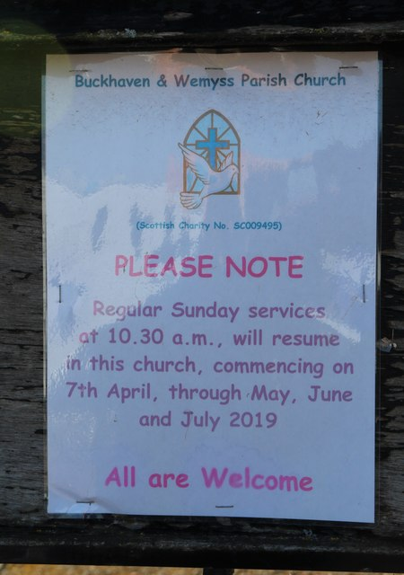 Notice on church gate