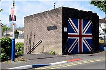 C4316 : Union flag painted on wall, Derry / Londonderry by Kenneth  Allen