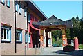 NT2400 : Gateway to the courtyard, Samye Ling by Jim Barton