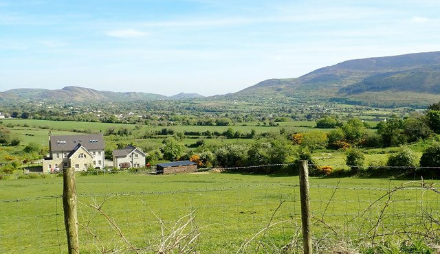 View across the Forkhill Valley towards the northern section of the Ring of Gullion