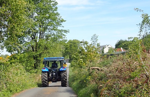 Tractor on the Glendesha Road