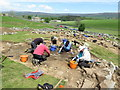 NY9026 : Archaeological excavation at Well Head, Holwick by Andrew Curtis
