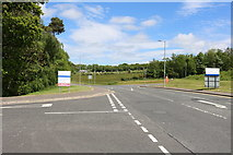 NS3618 : Exit Road from Ayr Hospital by Billy McCrorie