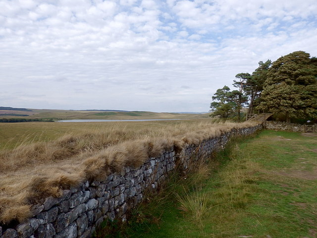 Hadrian's Wall near Broomlee Lough