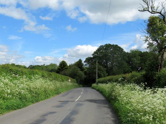 School Road Near West Lodge Hanbury