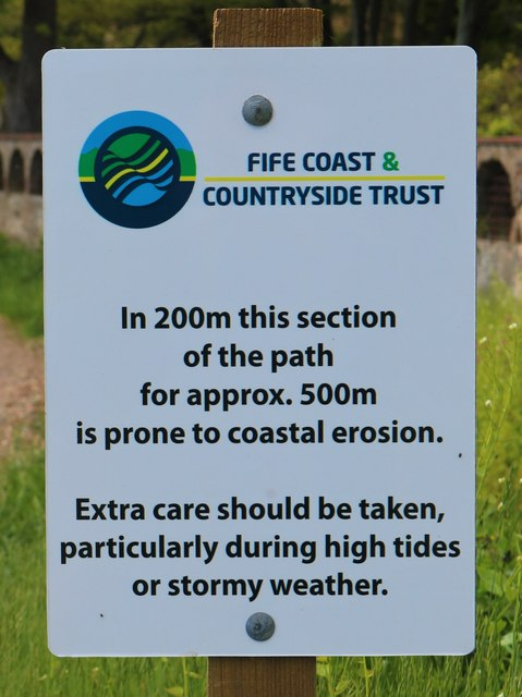 Sign on Fife Coastal Path