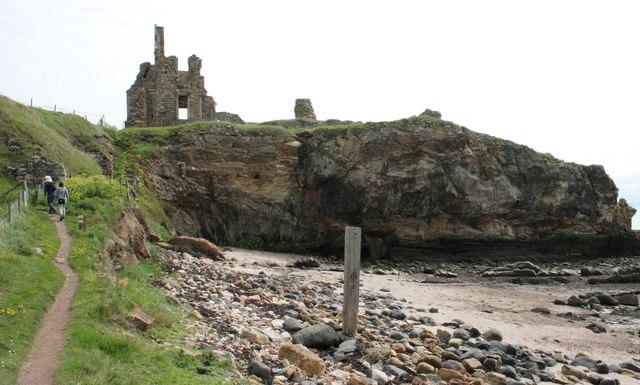 Cliff beside Newark Castle