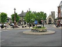 TL8783 : War Memorial, Roundabout & Church of St Cuthbert, Thetford by G Laird