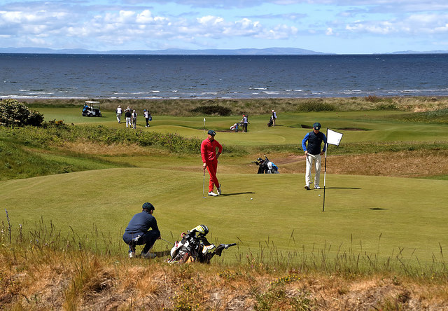 Golfers at Trump Turnberry