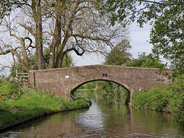 Swivel Bridge west of Great Haywood in Staffordshire