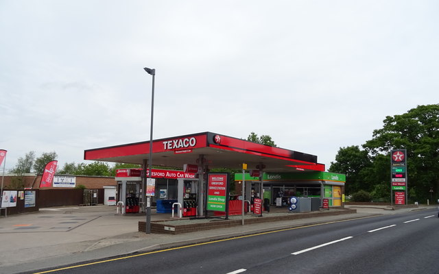 Service station on Chester Road, Gresford