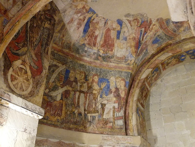 Ancient Mural in Canterbury Cathedral