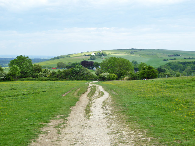 Bridleway down from Wolstonbury Hill by Robin Webster