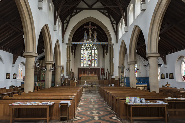 Interior, St Edmund's church, Hunstanton