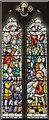 TF6741 : Stained glass window, St Edmund's church, Hunstanton by Julian P Guffogg