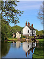 SK0021 : Colwich Lock and cottage in Staffordshire by Roger  Kidd