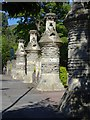 SO7845 : Gate piers outside Malvern St James College by Philip Halling