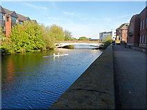 SK3536 : River Derwent and Derwent Street Bridge by Chris Gunns