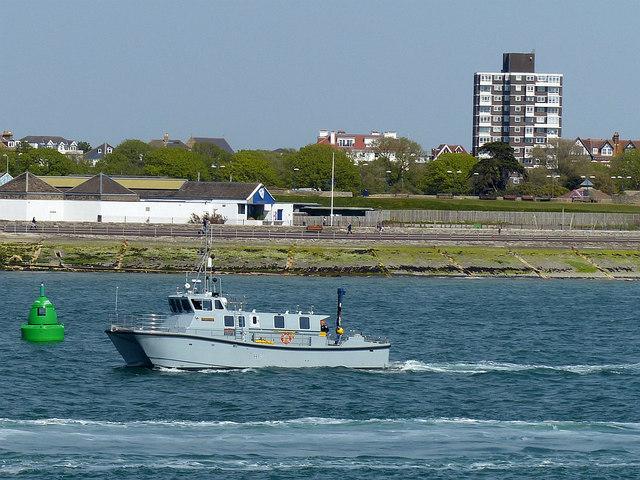 HMS Magpie (H130), Portsmouth Harbour