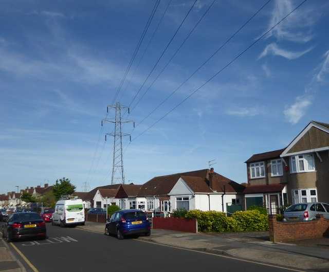Pylons and power lines at Falconwood