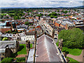 SO5039 : View west from Hereford Cathedral tower roof by Brian Robert Marshall