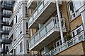 TQ3778 : Riverside balconies by David Martin