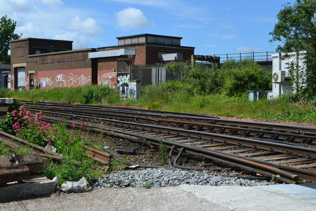 Railway southwest of Strood station