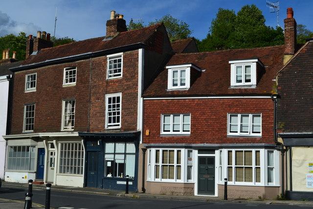 Buildings in South Street, Lewes