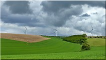 SE9238 : Wind turbines in the Yorkshire Wolds by Graham Hogg