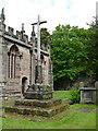 SJ8969 : Gawsworth St James - restored cross by Stephen Craven