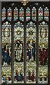 TG0343 : Stained glass window, St Nicholas' church, Blakeney by Julian P Guffogg