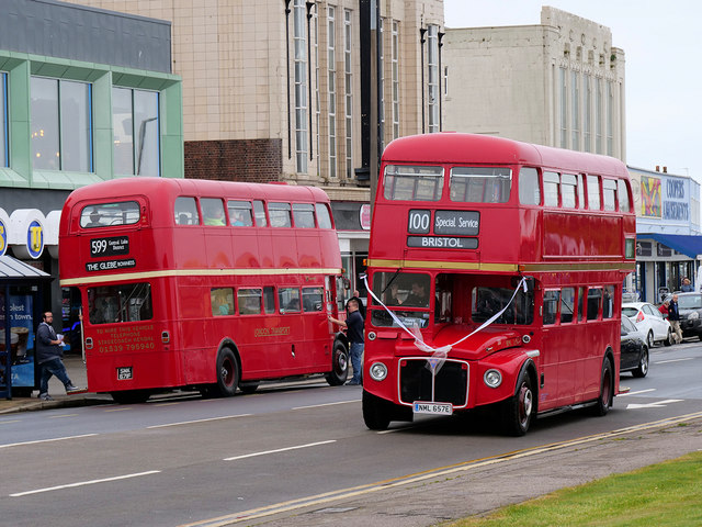 Two Routemasters in Morecambe