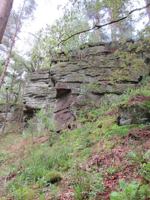 Sandstone Crags near Carrycoats Burn