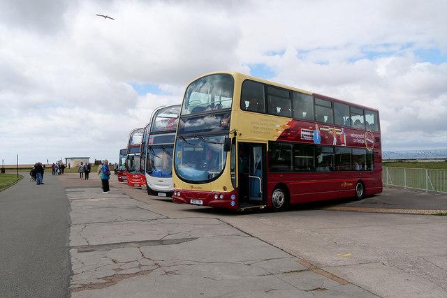 Ribble Centenary Bus Liveries, Morecambe Promenade