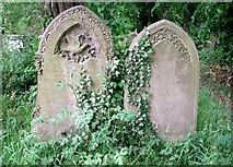 TG2408 : Old gravestones beside the path by Evelyn Simak