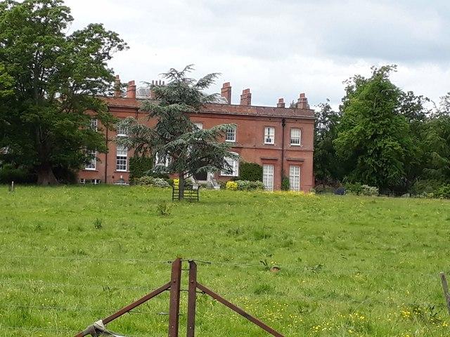 Redisham Hall, from bridlepath
