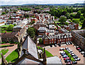 SO5139 : View east from Hereford Cathedral tower by Brian Robert Marshall