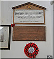 TF9109 : The War Memorials at Bradenham West End St Andrew's church by Adrian S Pye