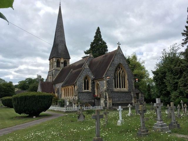 St Paul's church and churchyard