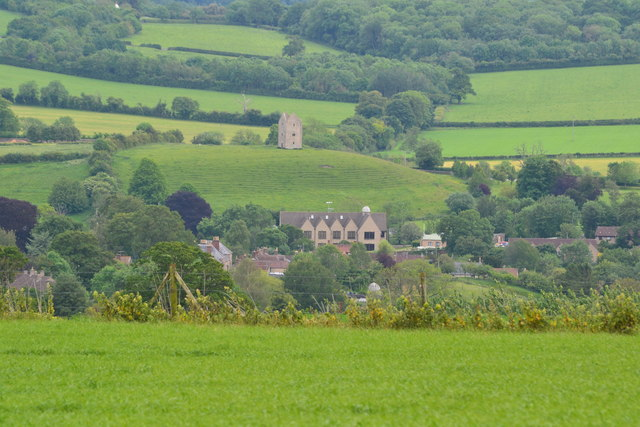 View over Bruton from Creech Hill Farm