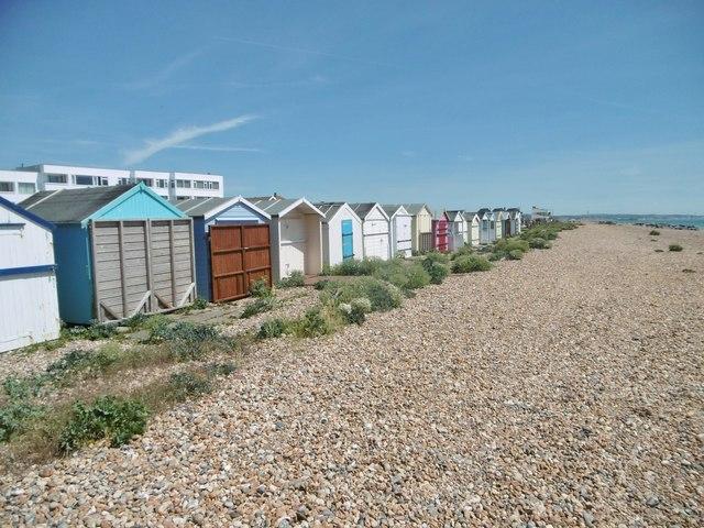 Lancing, beach huts