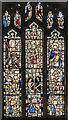 TG0136 : Stained glass window, All Saints' church, Bale by Julian P Guffogg