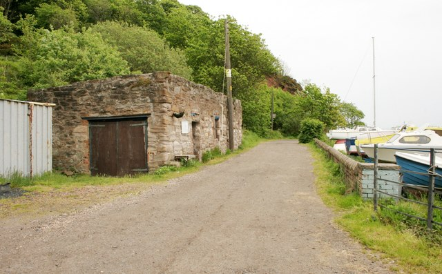 Old building near the harbour, West Wemyss