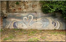 NT3294 : Swan Mosaic by Richard Sutcliffe