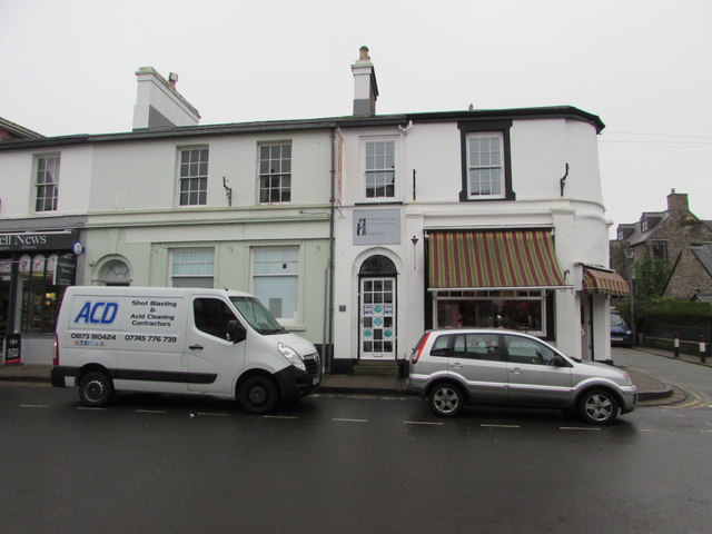 Van parked in front of the former Lloyds Bank branch in Crickhowell