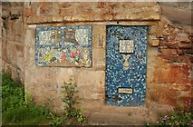 NT3294 : Door and window mosaic, West Wemyss by Richard Sutcliffe