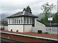 NN1627 : Signal box at Dalmally  by M J Richardson
