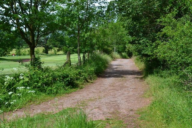 On the East Mendip Way beside Wells Golf Club
